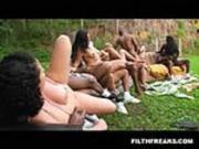 Brazil Backyard Orgy