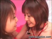 Asian lady In corset gives blowjob