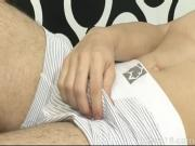 Gay twink wakes up for some dildo-riding
