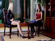 Exclusive interview: Gorgeous Busty Buffy interviewed by another big-breasted star from Czech Republic Angel Wicky and talks about her official site BustyBuffy.com, boys and other sexy stuff!
