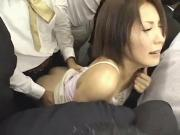 Tiny broad molested in a crowded Train