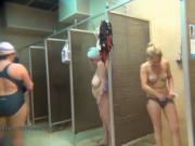 Hidden public shower voyeur with amateur girls