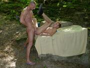 Young blond twink gets a hard, open-air fucking & hot, sticky facial! HD