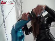 Latex chain bondage