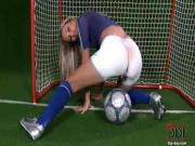 Cherry Jul playing Football with her pussy