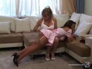 Angella Faith Spanks Jazmine Leih