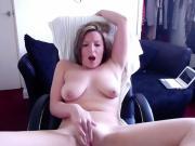 Saggy tits blonde ex gf masturbates heavily