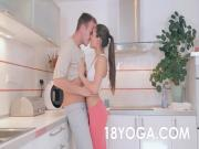 Teen Iwia Fucked In Wet Yoga Pants After Run