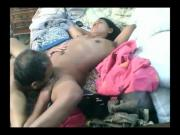 Indian Men Licking His Wife