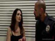 Sarah blackmails Police to Gangbang her