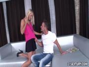 Teen girl Christen seducing her first cock