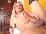 The beautiful TS Agatha McCartney gets her ass penetrated!