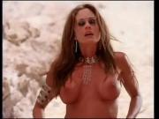Big titty celebrity swim suit model takes on a few studs