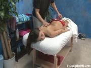 Katie enjoys pussy massage