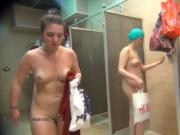 Taking shower totally nude and caught on voyeur cam