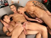 Dick & Tom double-fuck brit-boy Connor Levi & then jizz all over his face! HD
