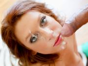 Newcomer redhead Sasha Summers sucks a big dick like a pro