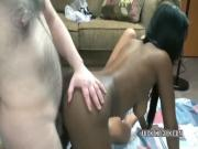 Threesome with ebony amateur