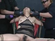 Electric Asian in the chair