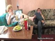 Drunken mom in glasses gets pumped raw