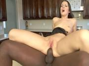 Chelsie's first black cock in her ass