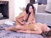 Silvie cumming hard on her living room carpet