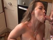 Rough sex with Olga in her kitchen