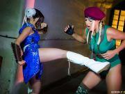 Christen Courtney and Rina Ellis Sex Fighter Chun Li vs Cammy XXX Parody HotAndMean