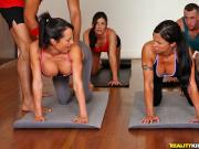 Diana Jewels, India Summer and Franceska yoga Gropist CFNMSecret
