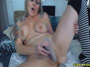 Babe With Big Natural Tits Masturbates On Cam