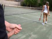 Sara Luvv Latina's Tennis Lesson Gets Naughty LatinaSexTapes
