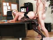 Blonde banged on desk