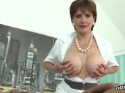 Adulterous british mature lady sonia flaunts her huge jugs