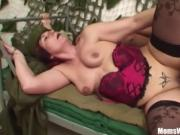 Hot Curvy Milf Fucking A Stud In The Army