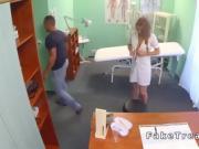 Redhead nurse fucks till cumshot