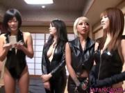 Leather Clad Japanese Babes Get Kinky