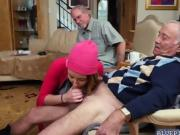 Frankie fed Sally and Gigi his old cock for a blowjob