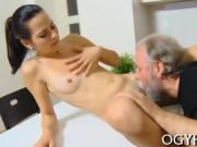 Young sweetie fucked by old lover