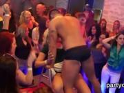 Spicy chicks get totally crazy and nude at hardcore party
