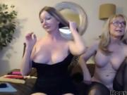 Two hot housewives and lesbians scissoring