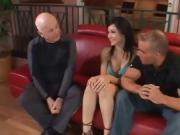 Hot Raven Haired Woman Has A Threeway With Two Men