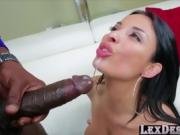 Lustful brunette Anissa gets hammered