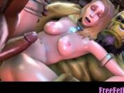 3D Monstercocks vs. Petite Babe - FreeFetishTVcom