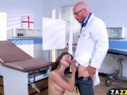 Blind Cytherea rides Dr Sins big cock on top bouncing off