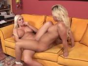 Tasteful Lesbian Couple Are Making Love On Couch