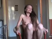 Casting babe walks off after hardcore sex and anal hole screw