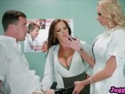 Nurs Nikki Benz and Briana Dick Stuck In Fleshlight