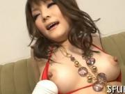 Asian babe decides how to fuck dude