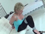 Unfaithful british mature lady sonia flaunts her big boobs