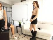 Teens play with cock on cam